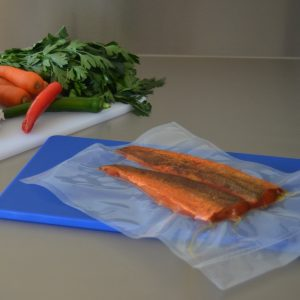 Vacuum sealing bags for fish